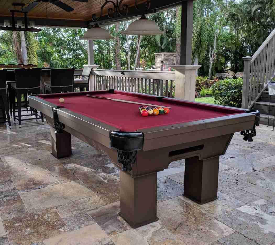 diy outdoor pool table