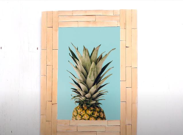 DIY Picture Frame Popsicle Sticks