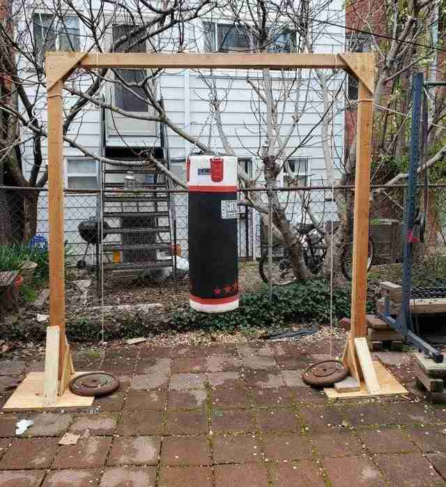 DIY Outdoor Punching Bag Stand