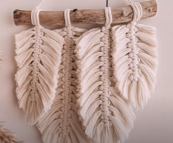 diy macrame feather