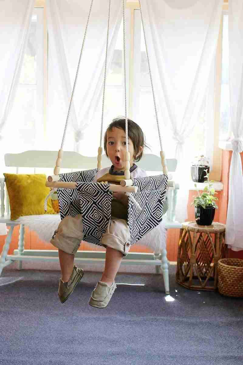 DIY Macrame Baby Swing