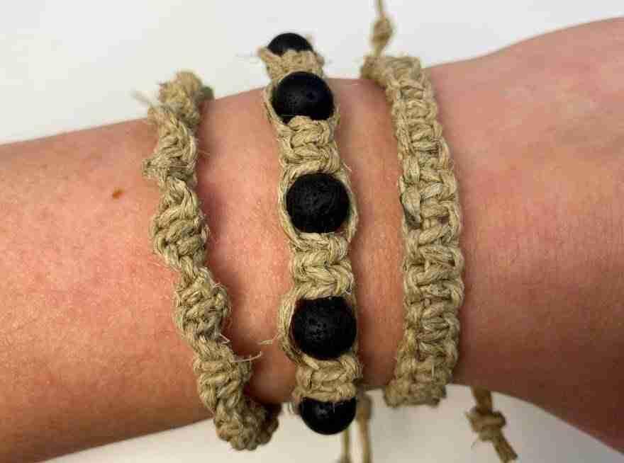 diy macrame bracelet with beads